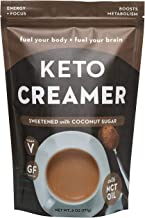 360 Nutrition KETO Creamer With MCT Oil | Sweetened Dairy Free | Coffee Creamer Milk Substitute | Coconut Sugar | Weight Loss, Energy, Fat Loss, Supports Ketosis…