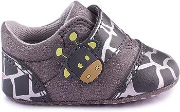 Cartoonimals Zapatos para bebé Niños Niñas Infantil Primeros Pasos Piel Suave Cuero Zapatillas Giraffe