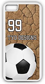iPhone Tough Case Fits Models 8 or 7 Create Your Own Soccer SC1014 with Player Jersey Number and/Or Name Or Team Name Customizable by TYD Designs in Tough White