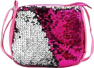 Kids Girls Crossbody Purse Bling Glitter Flip Sequin Small Purse Cute Zipper Handbag Shoulder Bag