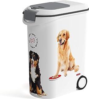 Contenitore per alimenti per animali domestici con paletta per cani con coperchio sigillato altezza 34 x larghezza 25 x profondit/à 19 cm gatti in metallo manico in pelle 7 kg animali CKB LTD