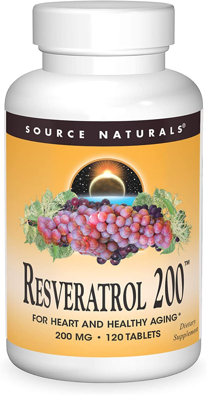 Source Naturals Resveratrol 200 Phoenix Mall mg for Heart Healthy Max 54% OFF - Aging and