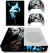 Decal Moments Xbox One S(Slim)Console Skin Set Vinyl Decal Sticker Protective for Xbox One S(Slim) Console Controllers Halloween Horror