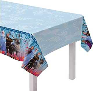 """Nature Is Magical Frozen 2 Birthday, Plastic Tablecover, 54"""" x 96"""""""