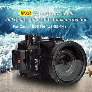 Sea Frogs 40m / 130ftの水中防水ハウジングCanon Eos M6(18-55mm)レンズのための