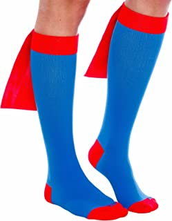 LISH Superhero Compression Running Socks - Animal - Americana - Graduated 15-25 mmHg Knee-Hi - Fun Socks