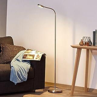 LED Lampadaire 'Olivia' (Moderne) en Gris en Métal e. a. pour Salon & Salle à manger (1 lampe,à A+) de Lindby | Lampadaire...