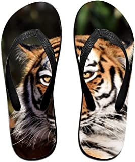 a1be53699 Kefanlk Unisex Sandy Flat Funny Flip Flops Thong Sandals Black Face Slipper  Top Mat