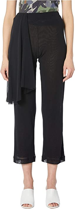 Solid Tulle Black Wrap Pants