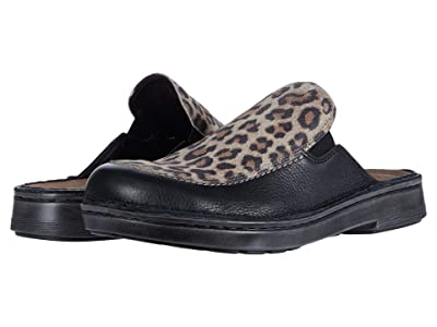 Naot Procida (Soft Black Leather/Cheetah Suede) Women
