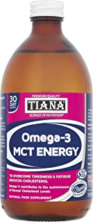 TIANA® 100% MCT Oil with Omega-3 500ml |High Quality & Purity | Reduces Cholesterol | Boosts Energy |Ketones 4X Longer Tha...