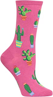 Women's Novelty Floral Casual Crew Socks