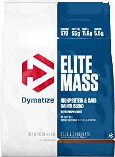 Dymatize Elite Mass Hi-Protein Muscle Gainer, Double Chocolate, 10 lbs