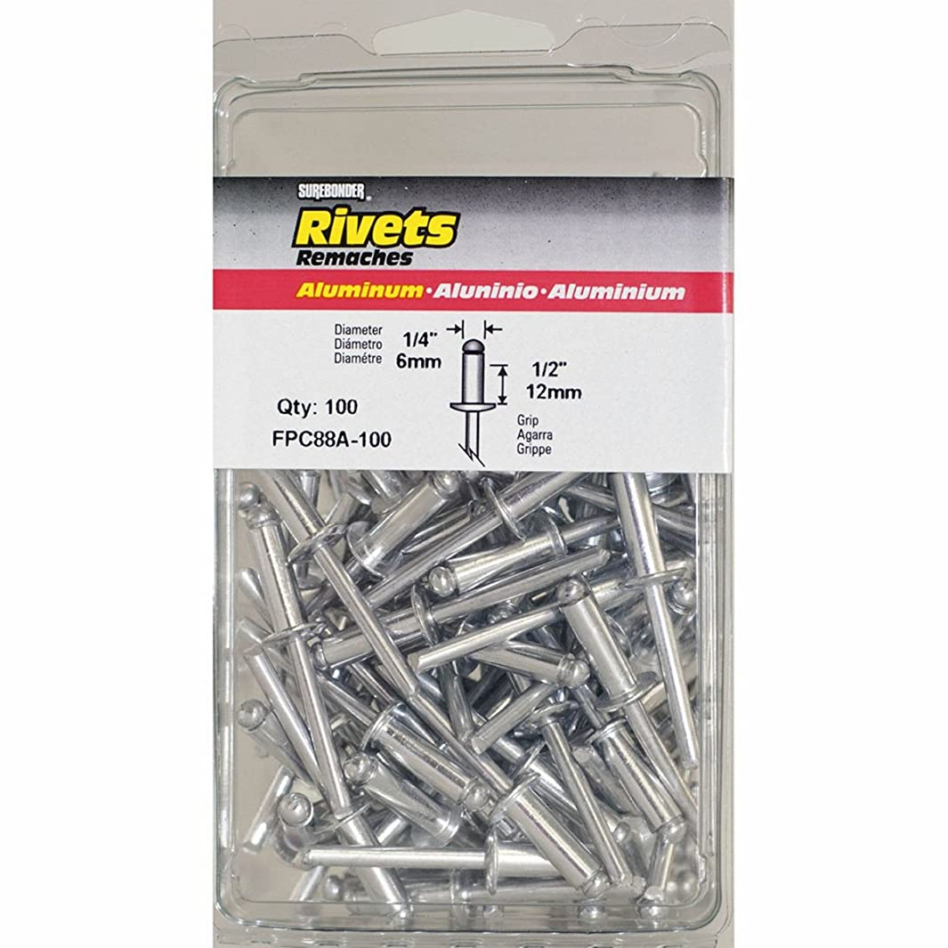 Surebonder FPC88A-100 1/4-inch Aluminum Long Rivets (100 per box)
