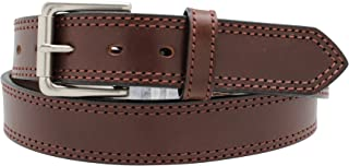 Heavy Duty Concealed Carry Leather Stitched Gun Belt, 13-14 ounce