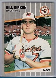 1989 Fleer Baseball Billy Ripken White Scratch Out Corrected Card # 616