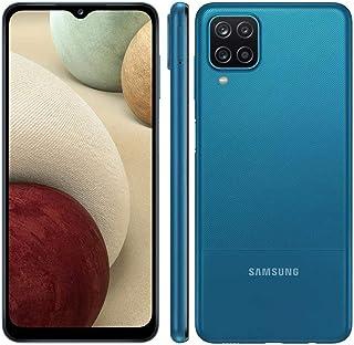 """Smartphone Samsung Galaxy A12 64GB, Tela 6.5"""", Câmera Quádrupla 48MP, 4GB RAM - Azul"""