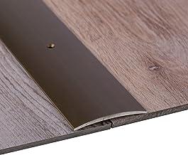 Gedotec overgang profiel laminaat - vinyl overgang rail geperforeerd vloerprofiel gebogen   drempel tot schroef   aluminiu...