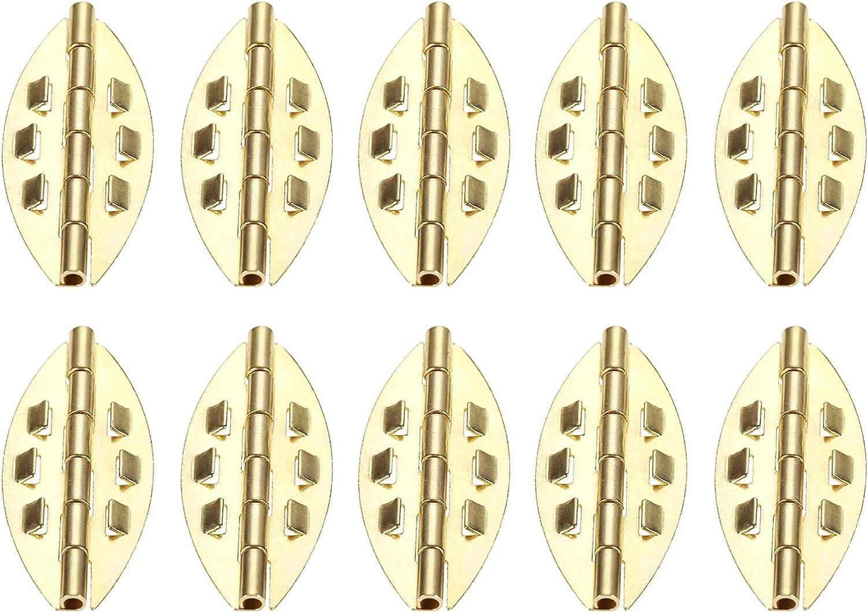 bisagras puertas madera, 10pc Antiguo gabinete de la puerta de la puerta de la joyería de la caja de madera del cajón del cajón Armario de la bisagra decorativa para el hardware de los muebles 39 * 17