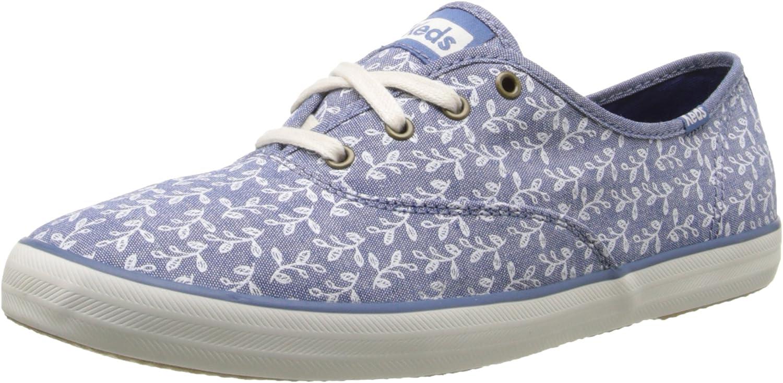 Keds Women's Champion Botanical-Leaves Fashion Sneaker Off White