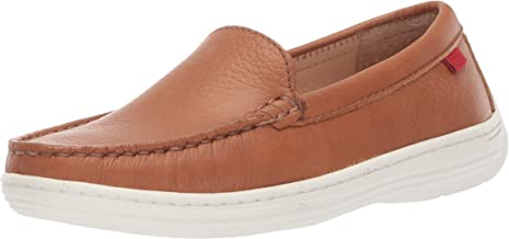 MARC JOSEPH NEW YORK Unisex-Child Girls Genuine Leather Boys/Girls Casual Comfort Slip on Moccasin Venetian Loafer