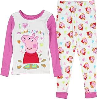 Peppa Pig Toddler Little Girls Cotton Pajama Set Cartoon