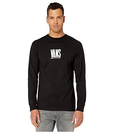 Vans Check Stack Long Sleeve T-Shirt (Black) Men
