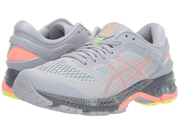 ASICS  GEL-Kayano 26 Lite Show (Piedmont Grey/Coral) Womens Running Shoes
