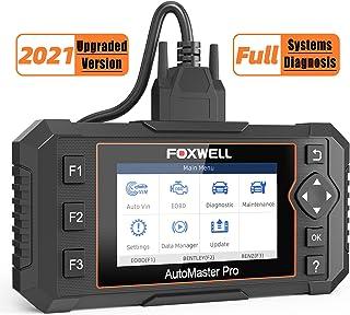 FOXWELL スキャンツール NT624 エリート全システム 車用診断スキャナー オイルライト付き EPB サービスリセット エンジントラン ABS SRS SAS EPS HVAC ヘッドランプ Obd2コードリーダー (2021年アップグ...