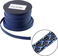 100ft - 1/4 inch Flexo PET Expandable Braided Sleeving – BlackBlue – Alex Tech Braided Cable Sleeve