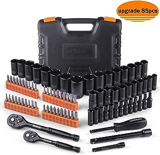 Drive socket set,85Pcs Socket Set Upgraded Accessories with 40pcs screwdriver set -SWS3A