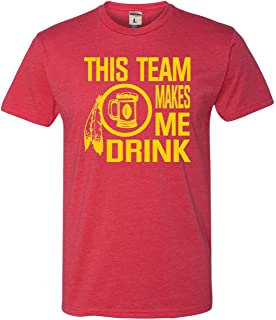 Go All Out Adult This Team Makes Me Drink Funny Washington Deluxe T-Shirt