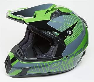 Medium Qtech Childrens KIDS MOTOCROSS MX Style Helmet BMX Quad Bike Q101 Green