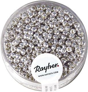 2.6 mm 14g D/öschen Rocailles Deko Creative-Beads b/öhmische Glasperlen gelb um Schmuck Armband selber zu machen oder basteln Silbereinzug