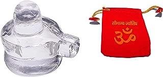 IndianStore4All 100% Pure Sphatik Shivling (30 Grams) Sphatik shivlingam