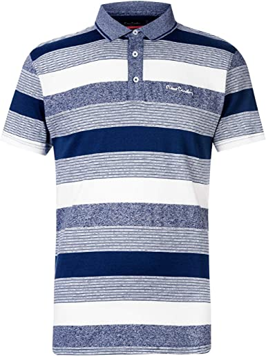Pierre Cardin Hombre Dye Jersey Camiseta Polo Deportiva