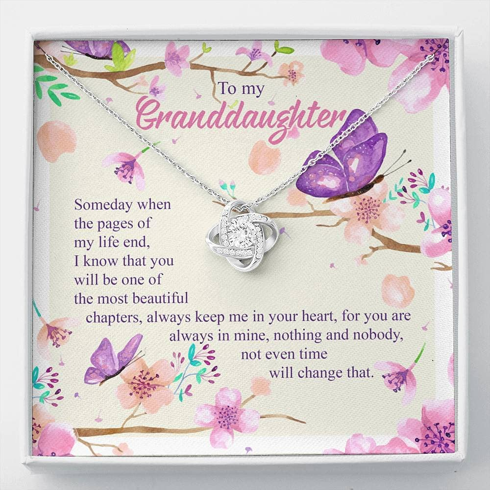 To My Granddaughter Someday 2021 autumn and winter new The Pages N Credence Life Knot Love End Of