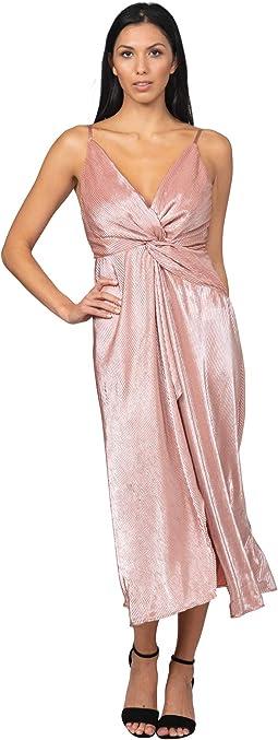 Twist Front High Slit Gown
