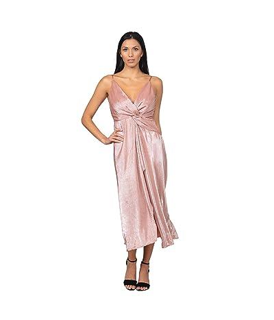 Bebe Twist Front High Slit Gown