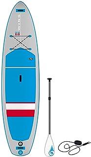 BIC Sport Wing SUP 充气站立套装包括桨板蓝色/灰色/红色,27.94 厘米
