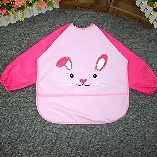 1-3 Years Old Anti-wear Waterproof Bib Baby Baby Disposable Clothes Bib Bib Long Sleeve Unisex Baby Bibs (Color : P, Size...