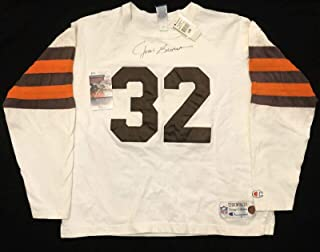 Signed Jim Brown Jersey - Champion Throwback XL COA - JSA Certified - Autographed NFL Jerseys
