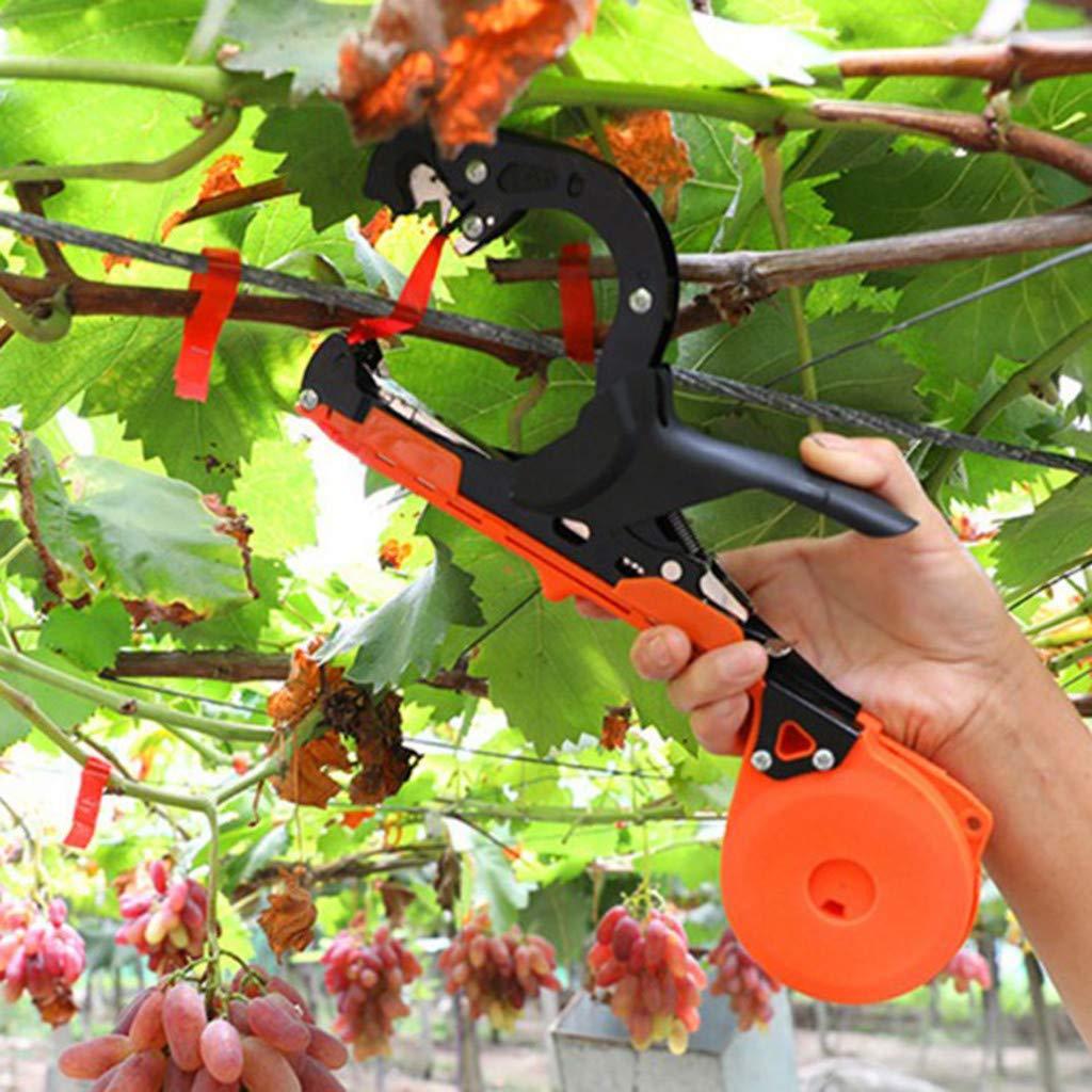 Hellosay Herramienta Profesional para Atar Plantas, Herramienta para viñedos de jardín, Cinta para Atar, máquina para Atar Plantas: Amazon.es: Jardín