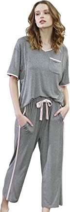 442079c9ca70c Epinmammy Maternity Women's 2 Pieces Soft Nursing Pajamas Set Postpartum  Sleepwear for Women Breastfeeding