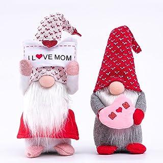 Gehydy Decorazione Gnomo Festa della Mamma Fatto a Mano 2021 Decorazione Agriturismo Ornamento Tomte GNOME Casa di Peluche Vacanza Regali per Festa della Mamma Amore