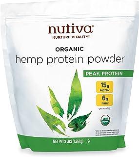 Nutiva Organic Cold-Pressed Hemp Seed Protein Powder, Hemp Protein, 3 Pound