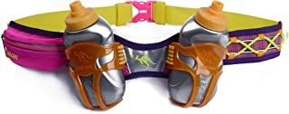 247 Viz Hydration Belt - Fits iPhone 8, X and Similar Phones - with 2 BPA Free Water Bottles and Pouch System - Running Fuel Belt & Runners Reflective Gear for High Visibility