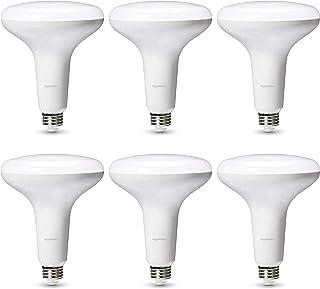 AmazonBasics Commercial Grade LED Light Bulb | 75-Watt Equivalent, BR40, Soft White, Dimmable, 6-Pack