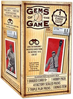 baseball cards Gems of The Game Baseball Cards Value Box 2019- Randomly Inserted Cards from The 1910 E98 Set   1 Graded Card 9+ Guaranteed
