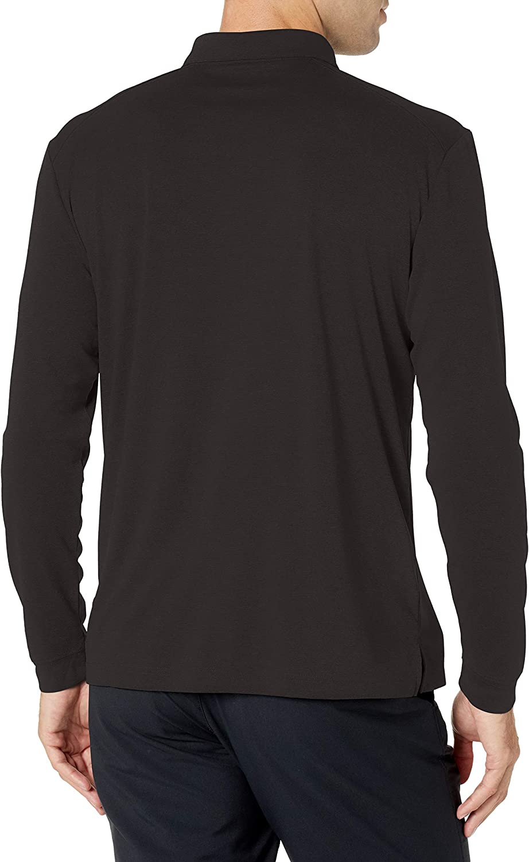 PGA TOUR Mens Standard Long Sleeve Ottoman Polo Shirt